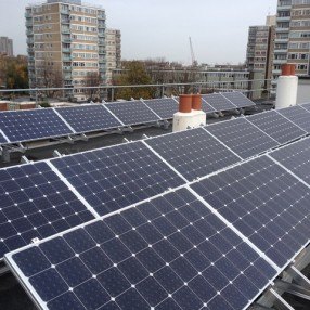 Solar panels on Cordelia St, Poplar